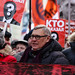 Former prime minister of Russia, the oppositional politician Mikhail Kasyanov at the head of a march