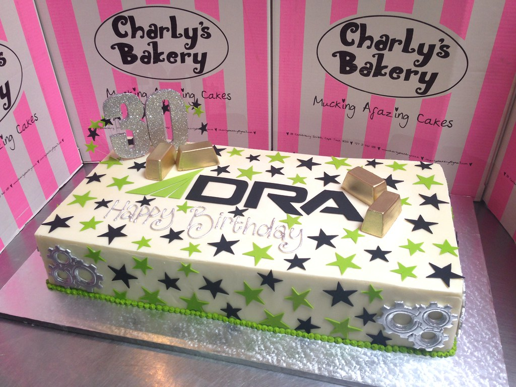 Large Rectangular Corporate 30th Birthday Cake With Logo Flickr