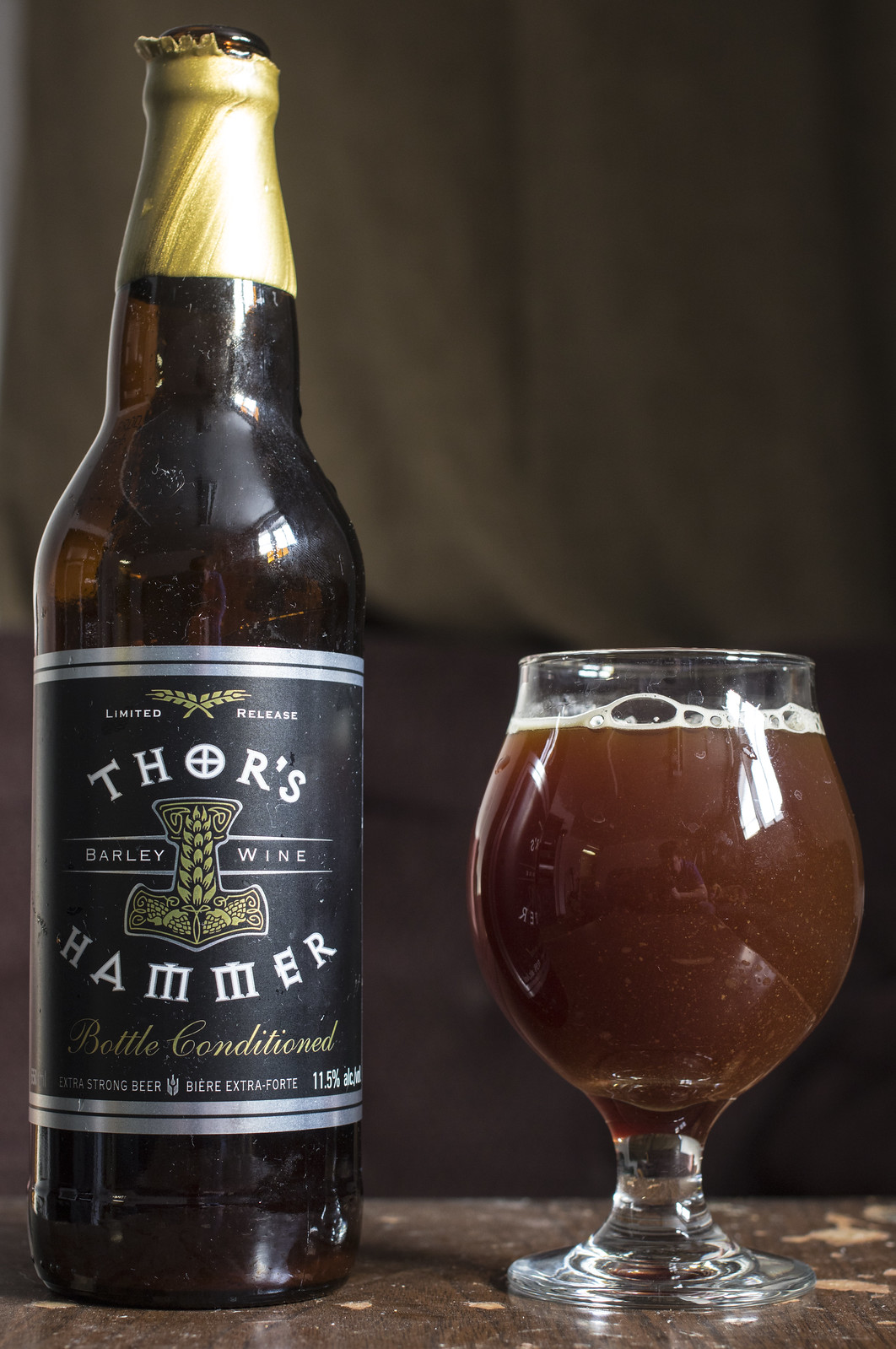 review central city thor s hammer barley wine 2013 beercrank ca