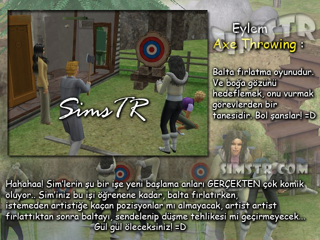 The Sims 2 Bon Voyage Axe Throwing Balta Fırlatmaca