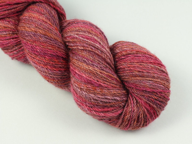 Spu yarn from It's a Stitch Up Lustre Blend fibre in 'Momiji'