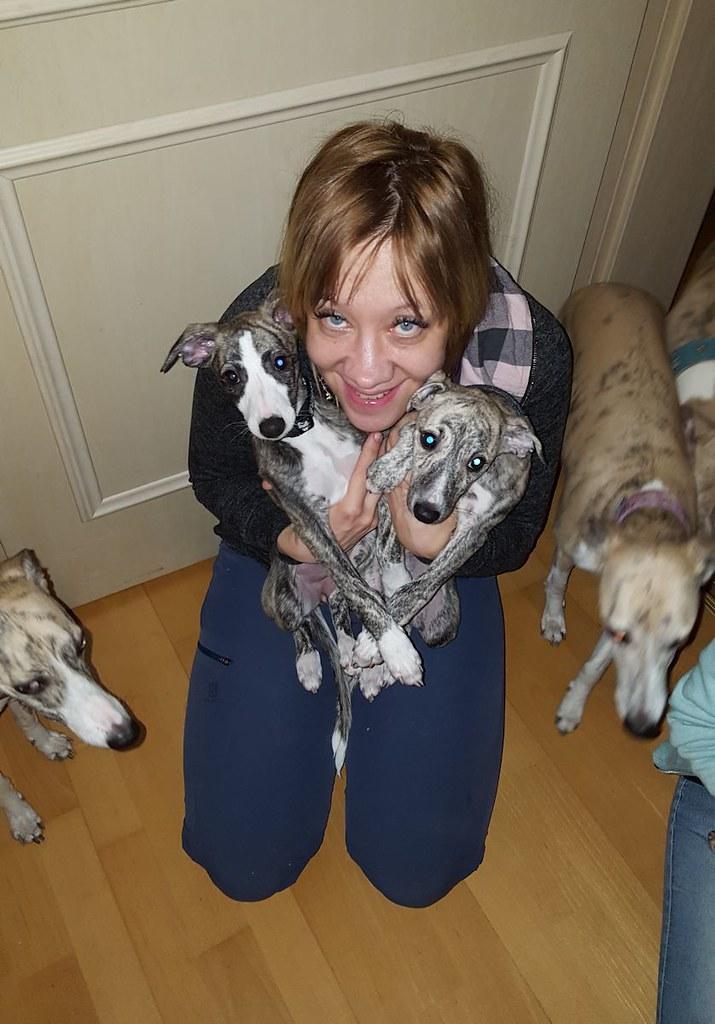 Abschiedsfoto von Schwesterchen Gaia, die jetzt in Finnland lebt!