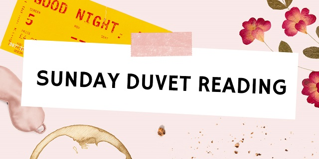 sunday duvet reading newsletter header