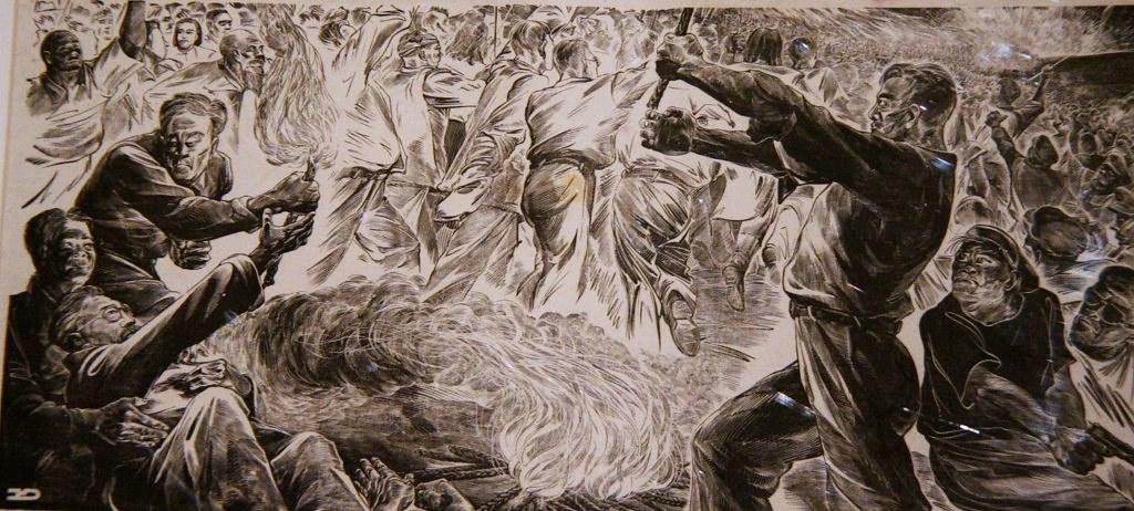 木刻家荒煙1948年完成紀念聞一多的版畫《一個人倒下,千萬人站起來!》,其創作動機受到前一年二二八事件的鼓舞。