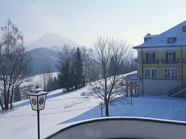 Guten Morgen Aus Dem Verschneiten At Sheratonfuschlsee Wir
