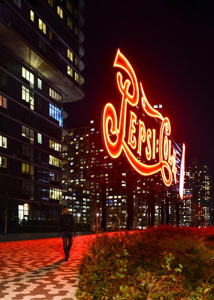 Cartel de Pepsi-Cola de Nueva York, uno de los escenarios de cine más famosos de Nueva York