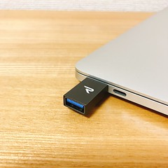 USB 3.1 を USB C に変換するアダプター