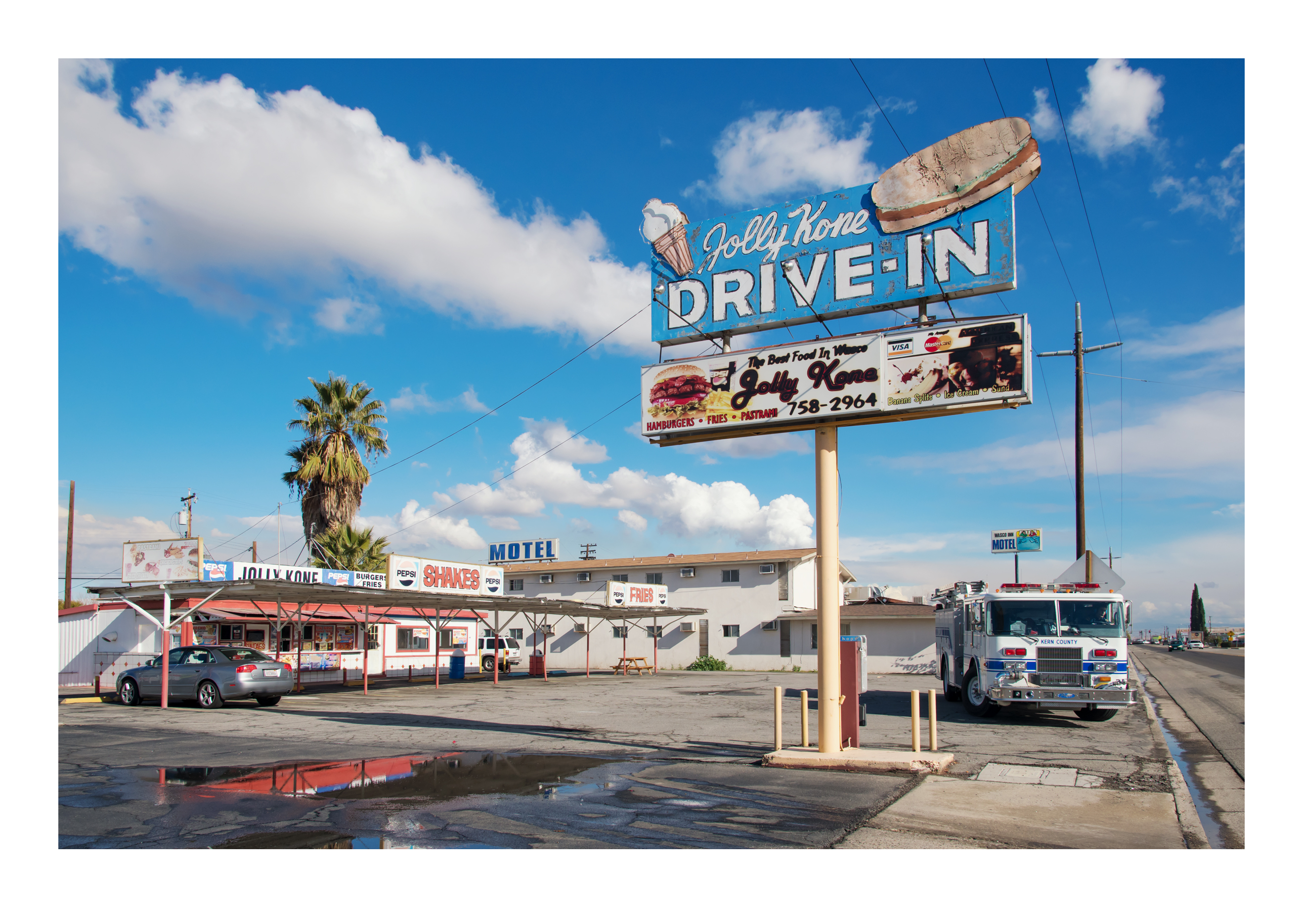 Jolly Kone Drive-In - 1212 California 46, Wasco, California U.S.A. - January 9, 2018