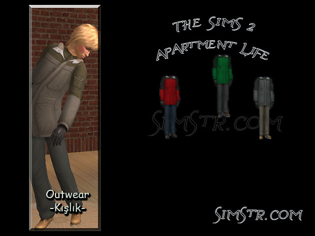 The Sims 2 Apartment Life Apartman Hayatı CAS News Yeni Erkek Kıyafetleri
