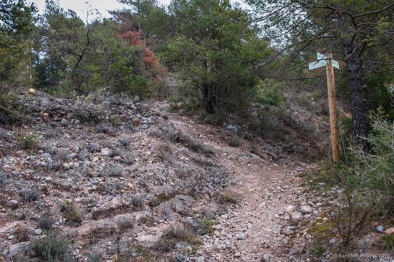 Cruce de caminos cerca de la Font de la Llosa