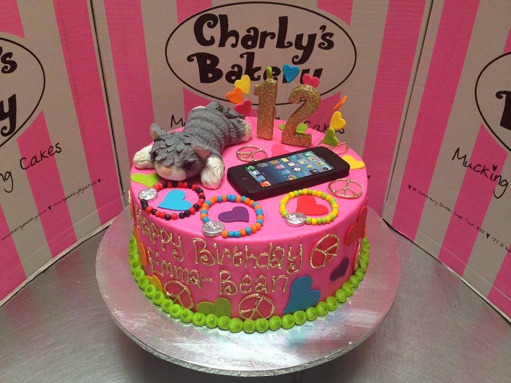 Single Tier 12th Birthday Cake With 3d Kitten Figurine 3d Flickr