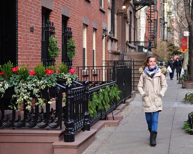 Paseando por Greenwich Village en el bario de Sexo en Nueva York