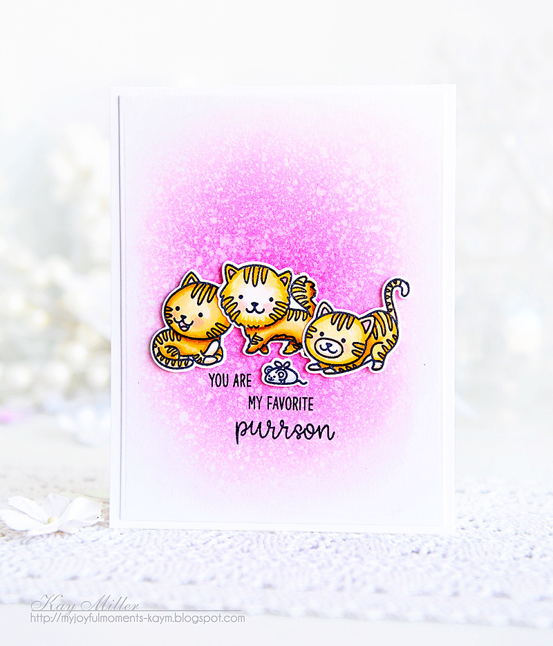 Sunny Studio Stamps: Purrfect Birthday Kitty Themed Cards by Kay Miller