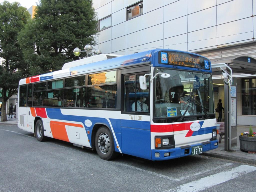 東急バス | 小杉駅前にて 溝02等...