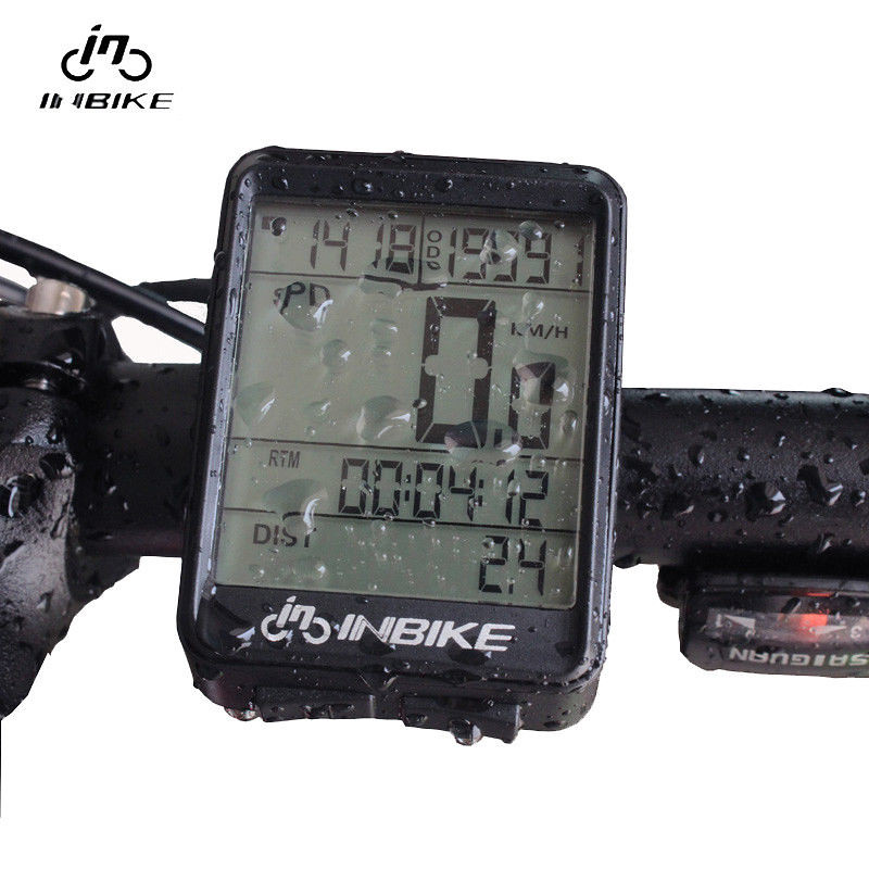 Bicycle Computer Waterproof Wireless LCD Odometer Bicycle Speedometer Black XI