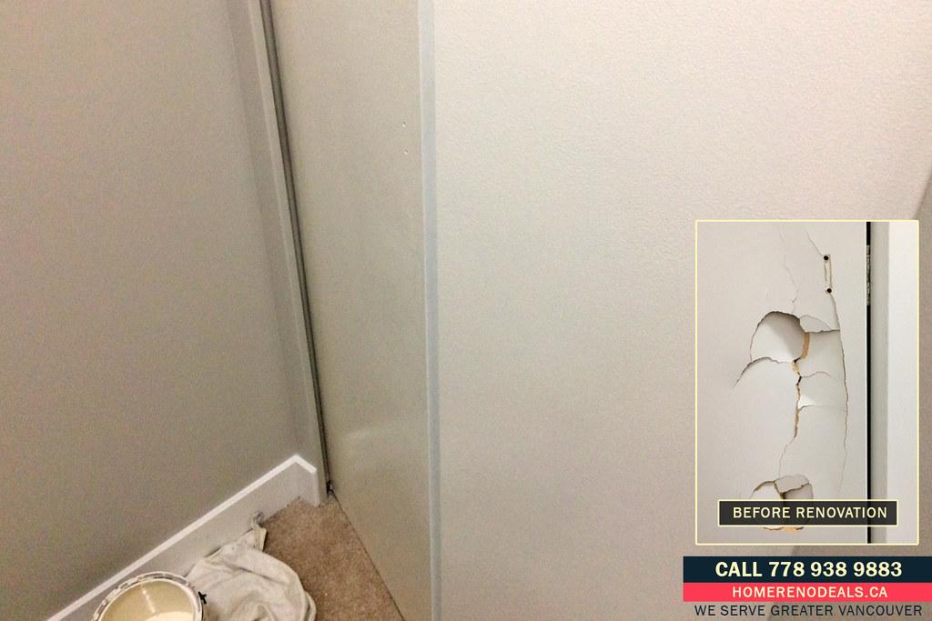 Bifold Closet Door Punch Hole Repair Service Home Renovat Flickr