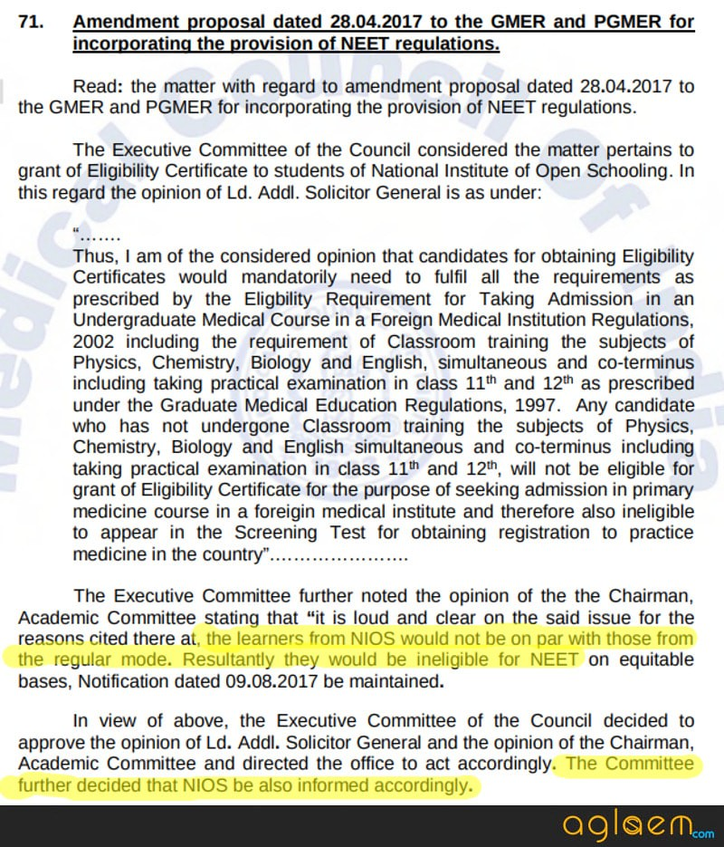 No NEET 2018 for Open School Students; Why Such Partiality, Demand Students