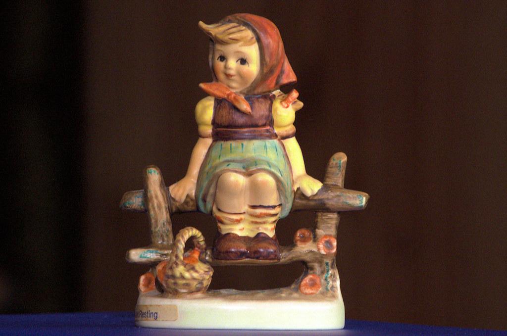 "Today's photo: Girl ""Just Resting"" M.I. Hummel figurine; February 2, 2018 (Pentax K-3 II)"