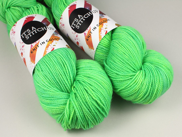 Favourite Sock – hand-dyed superwash pure merino wool 4 ply yarn 'Hulk' (neon green)