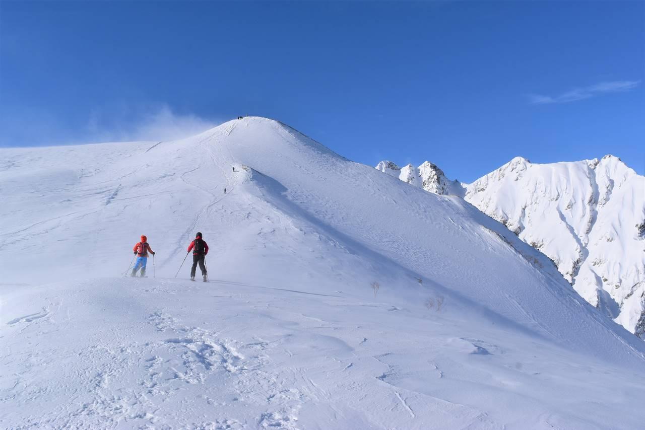 冬の北アルプス唐松岳(八方尾根) 雪山登山