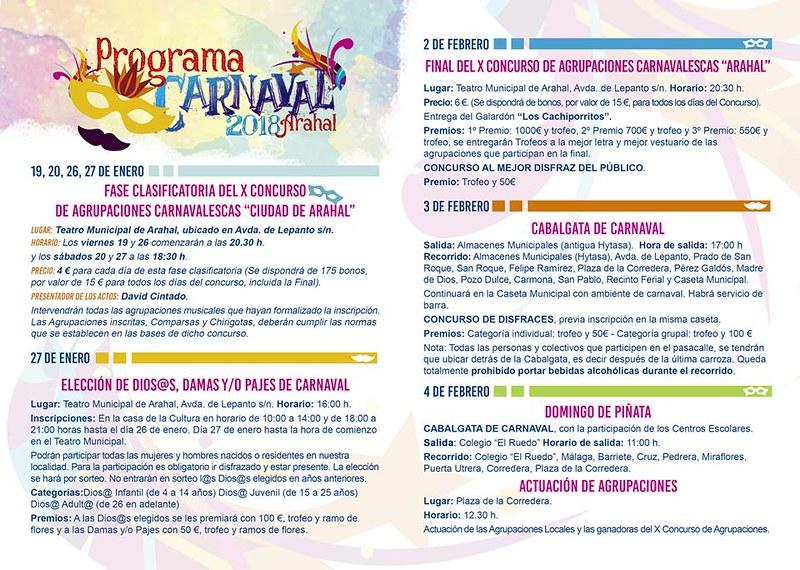 AionSur 39608980141_67f320f260_c_d Presentado cartel anunciador y programa del Carnaval 2018 de Arahal Arahal