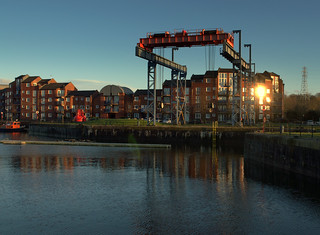Boat lift at Preston Docks | by Tony Worrall