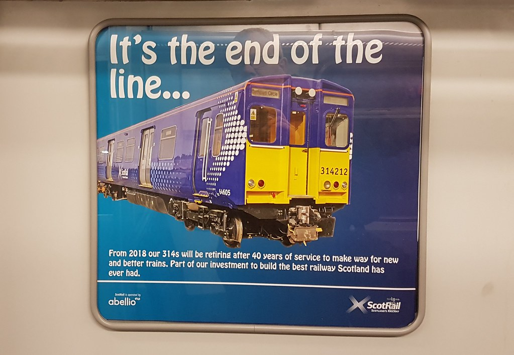... Scotrail 64584 (314201) 2I31 1723 Glasgow Central - Glasgow Central  (anticlockwise Cathcart Circle