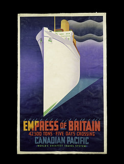 Empress of Britain, poster for Canadian Pacific Railways, 1920, credit V&A London | by judith0777