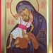 Icône de la Mère de Dieu du Jeu - Pelagonitissa (de l'Enfant qui joue) - The Pelagonitissa (Child playing) Icon - Par la main / by the hand of Michèle Lévesque