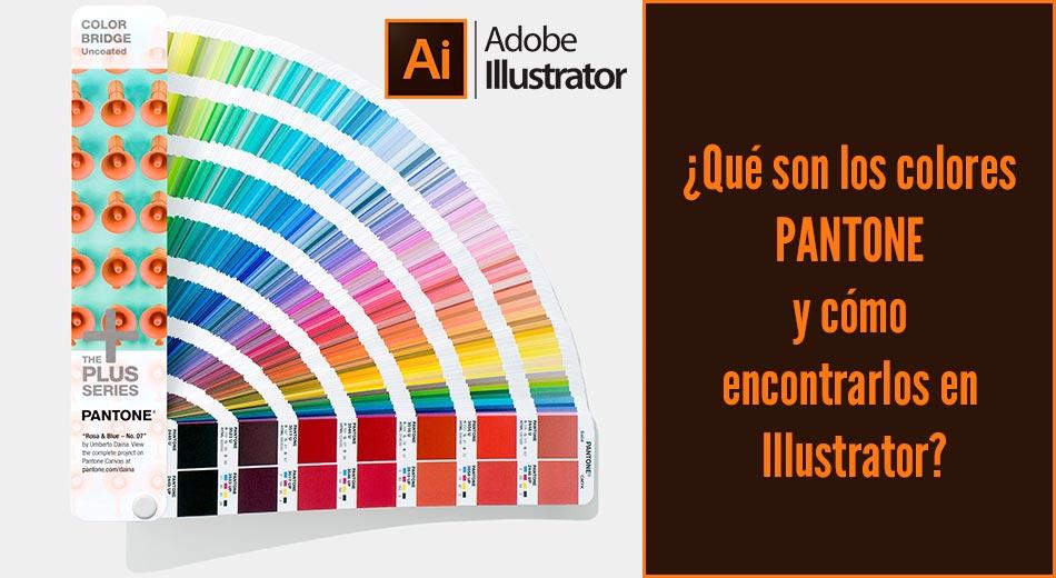 ¿Qué son los colores PANTONE y cómo encontrarlos en Illustrator?