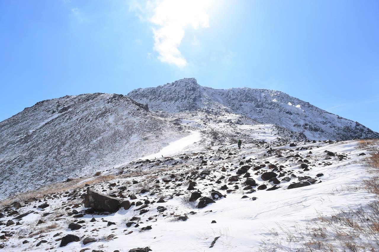冬の那須岳・茶臼岳 雪山登山