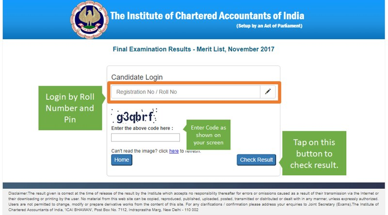 ICAI CA Final Result 2018 Announced; Know How To Check The Result