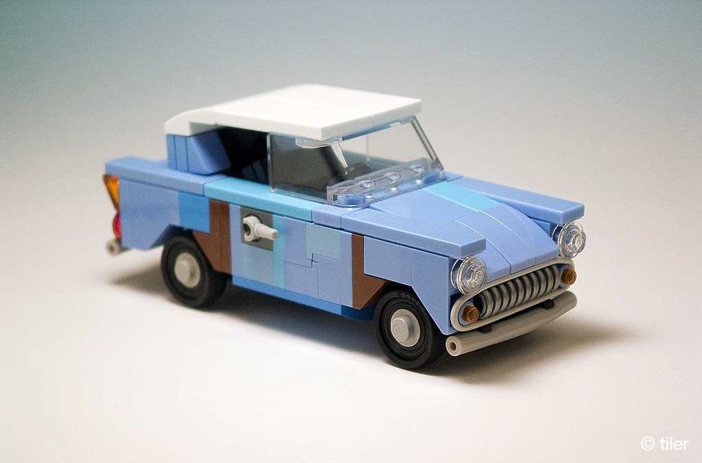 Harry Potter Flying Ford Anglia 105e Junk Version 06