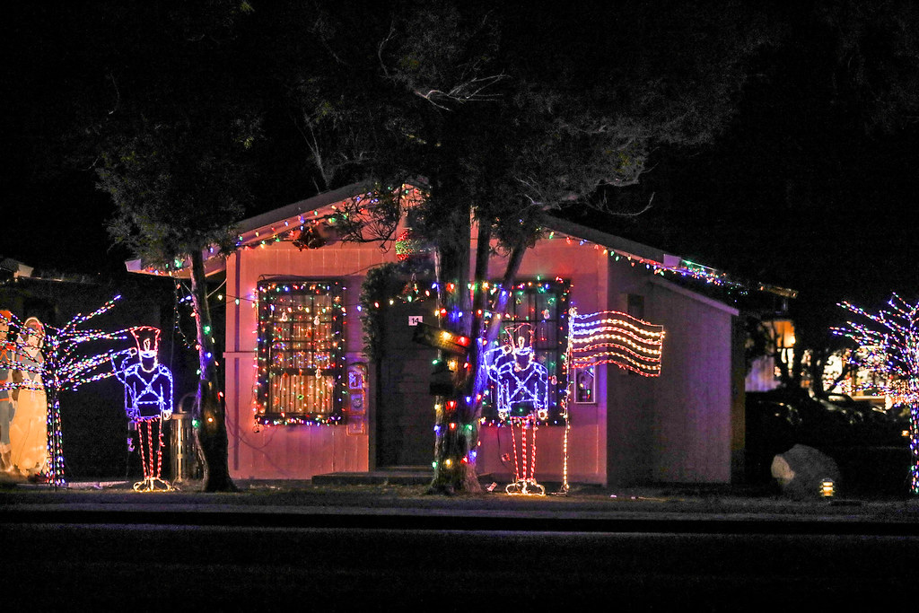Patriotic Christmas Lights | by wyojones Patriotic Christmas Lights | by  wyojones - Patriotic Christmas Lights Christmas Lights Decorate Cabin… Flickr