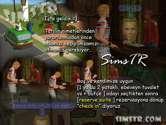The Sims 2 Bon Voyage Check In Reserve Suite