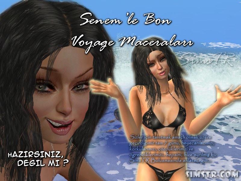 The Sims 2 Bon Voyage Kızım Senem ile Bon Voyage Maceraları