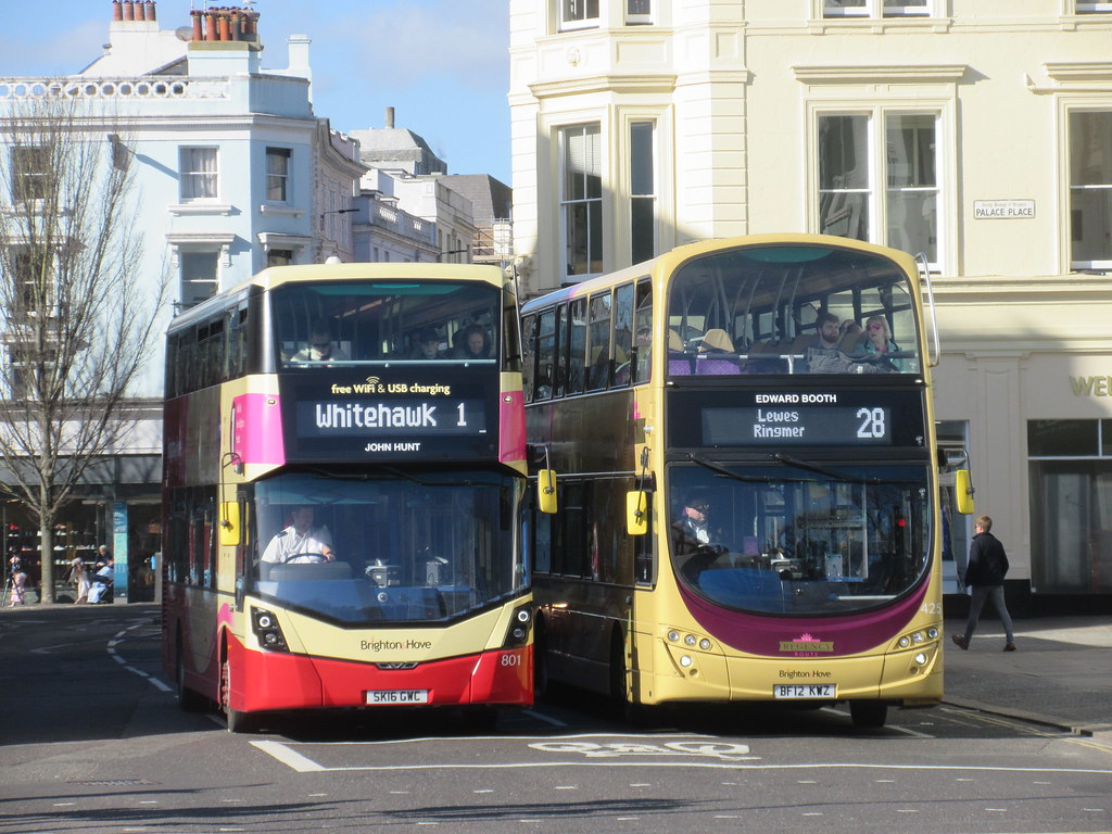 brighton and hove 801 sk16gwc on route 1 and 429 bf12kwz o… | flickr