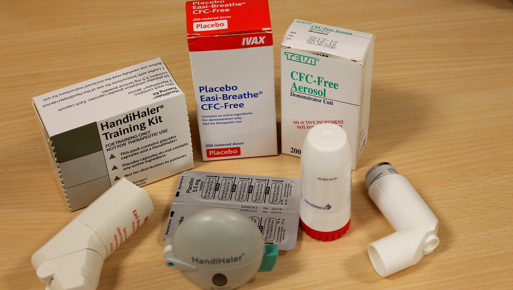 A selection of inhalers available to people with respiratory diseases