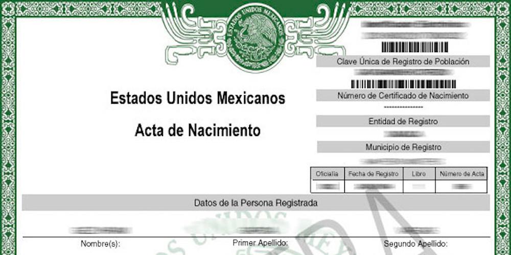 Acta de nacimiento en línea es oficial para trámites y servicios en ...