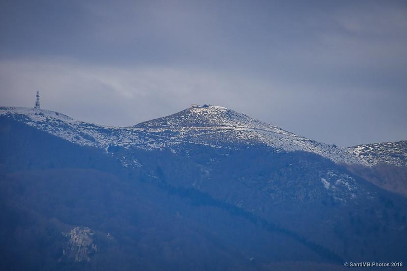 El Turó de l'Home desde el Castell de Montsoriu