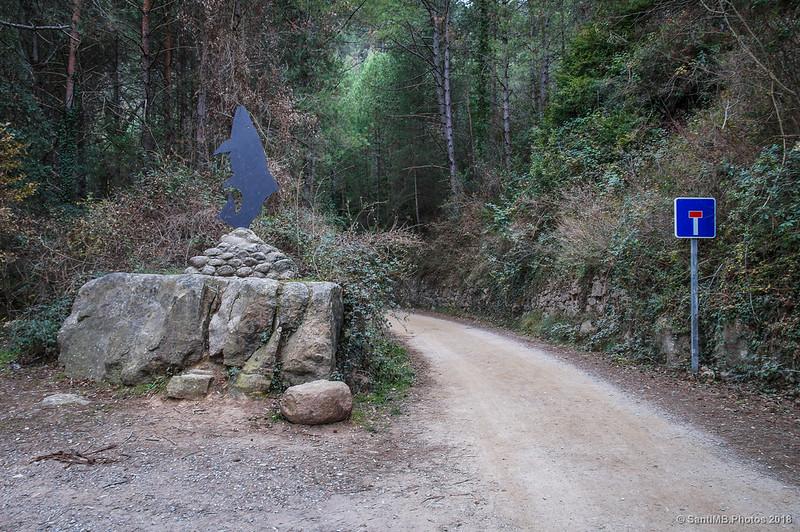 Vía Verde del Carrilet del Llobregat frente al Refugi dels Pescadors