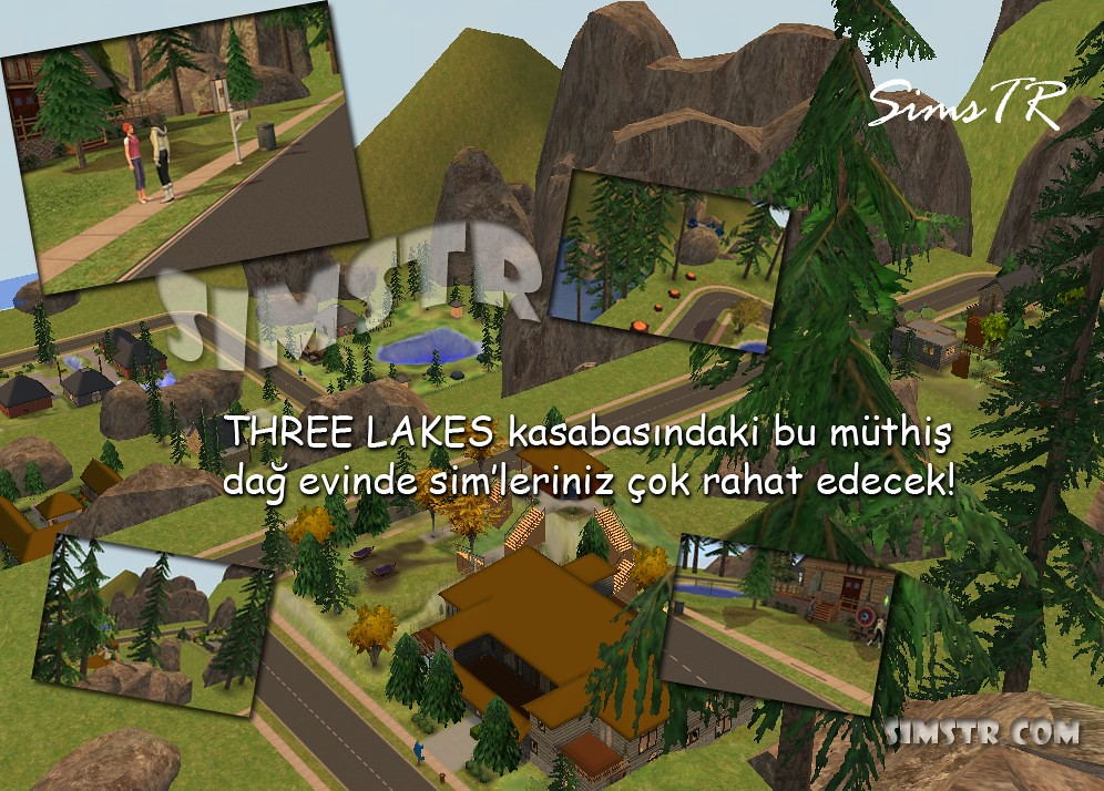The Sims 2 Bon Voyage Three Lakes Chalet