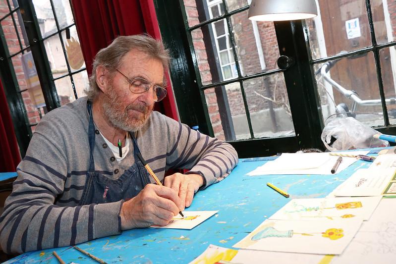 Atelier van vzw Sjarabang op Groot Begijnhof te Mechelen
