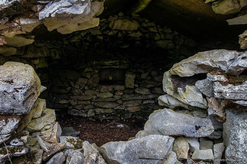 Interior de una txabola cercana a San Adrián de Lizarraga