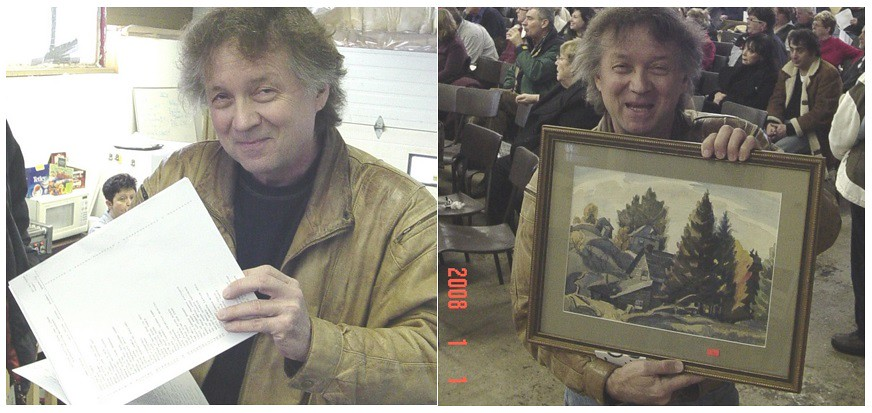 Marshall Gummer buying Canadian art in a snowstorm - E Conyers Barker , early Port Hope artist
