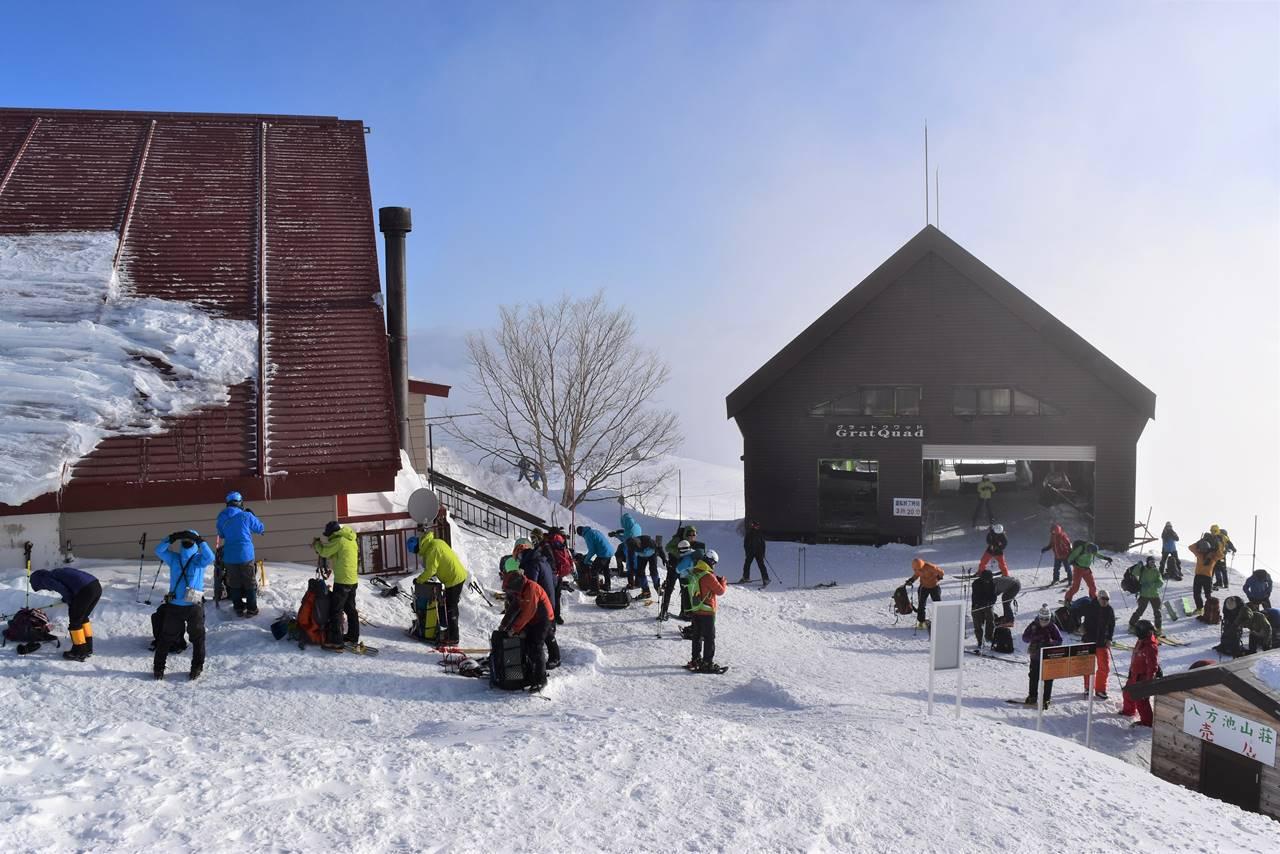 白馬八方スキー場リフトトップ