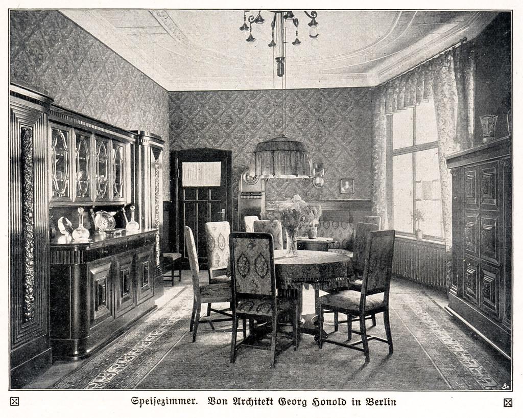 Berliner zimmer als speisezimmer eingerichtet 1913 flickr - Berliner zimmer ...