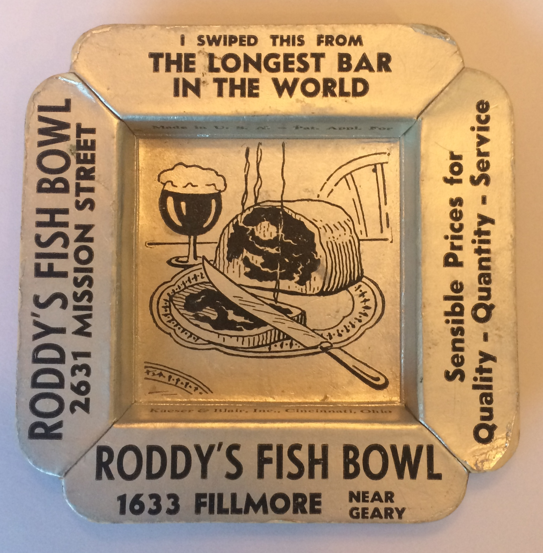 Roddy's Fish Bowl - 1633 Fillmore Street, San Francisco, California U.S.A. - date unknown