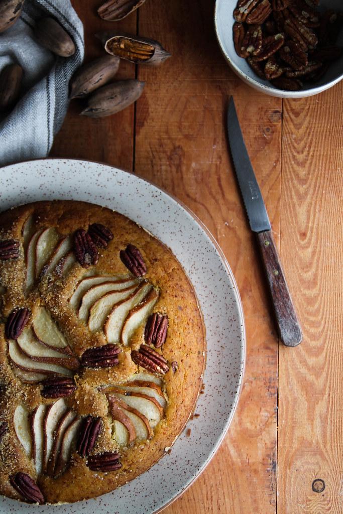 Gâteau aux poires vegan - sans gluten