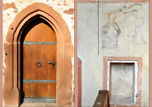 Die Erheimer Kapelle bei Hirschhorn am Neckar ... Wandfresken, Ölbergszene, Grablege der Ritter von Hirschhorn ... Fotos: Brigitte Stolle
